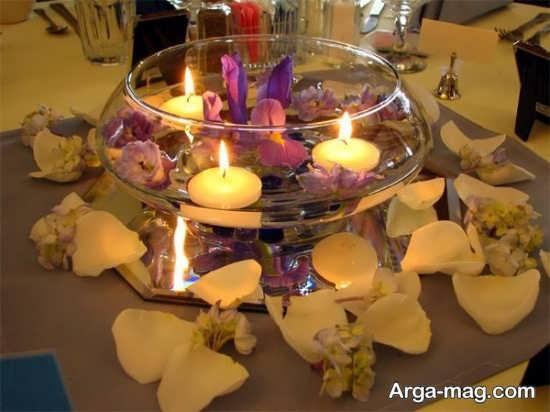 تزیین زیبای منزل با شمع