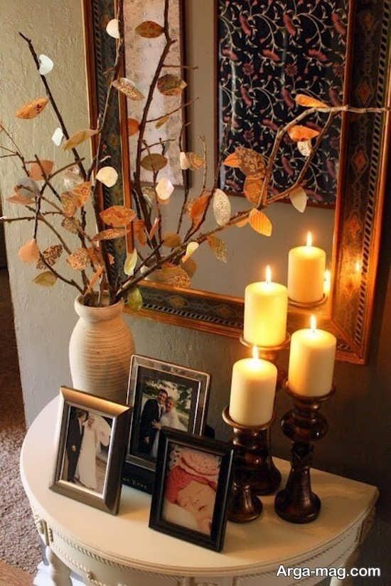 آراستن دکوراسیون منزل با شمع