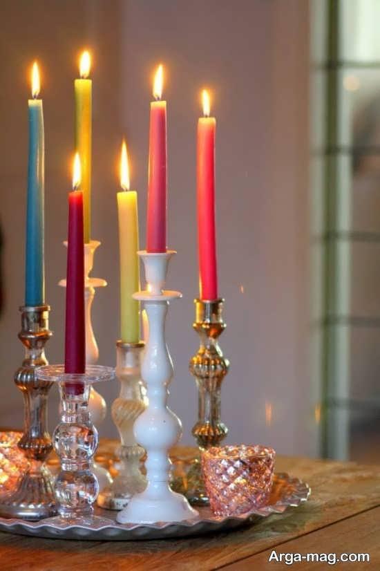 آذین خانه با شمع