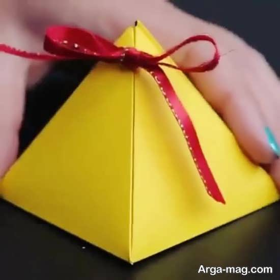 ساخت باکس هدیه شکیل با مقوا