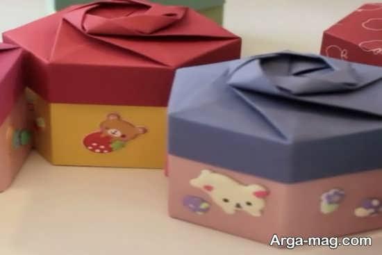 ساخت جعبه هدیه شکیل با مقوا