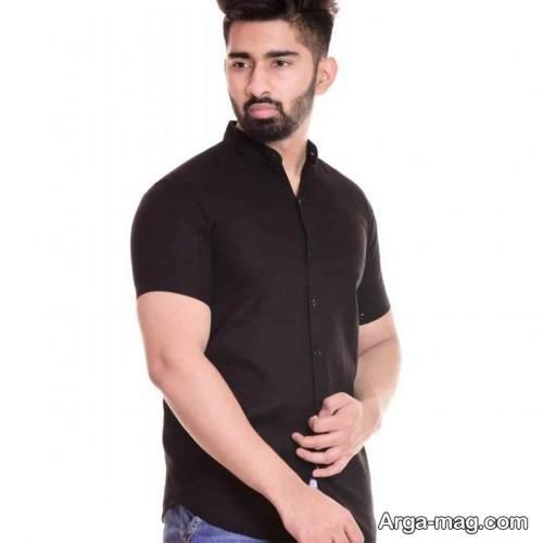 پیراهن زیبا و آستین کوتاه مردانه