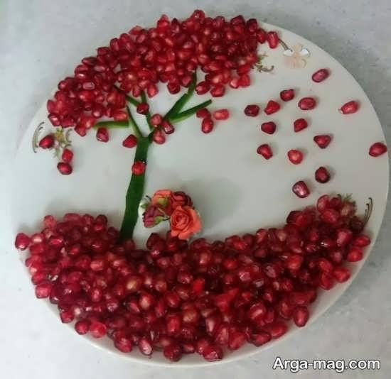 خلاقیت تزیین انار برای شب یلدا
