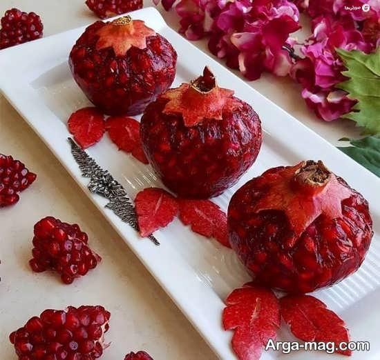 ایده زیبا برای انار دانه شده