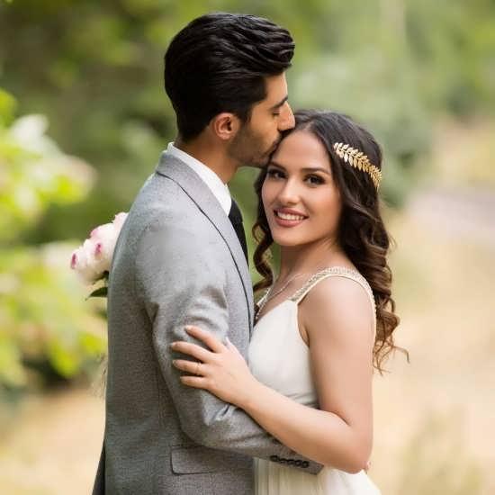 عکس پروفایل عروس و داماد زیبا و عاشقانه