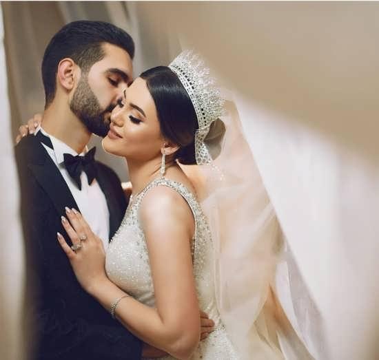 تصویر جدید و شیک عروس و داماد
