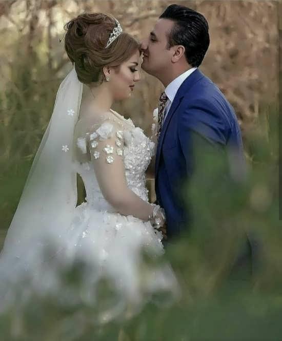 عکس خاص عروس و داماد