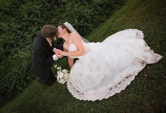 عکس متفاوت عروس و داماد