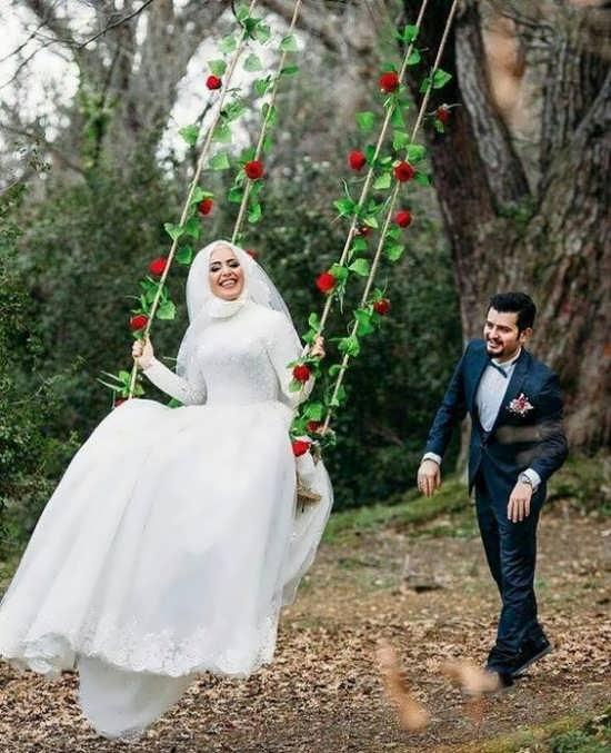 پروفایل عروس و داماد بدون متن
