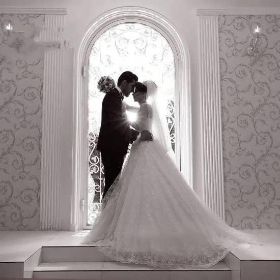تصویر فوق العاده زیبا عروس و داماد
