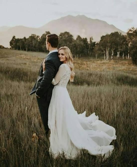تصویر زیبا و عاشقانه عروس و داماد