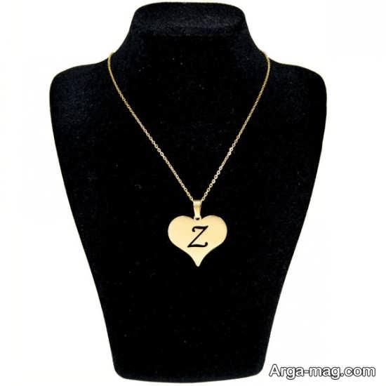 عکس نوشته حرف Z با طرح گردنبند