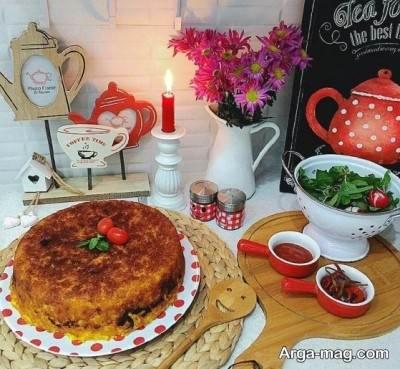 دستور پخت ته چین ساده