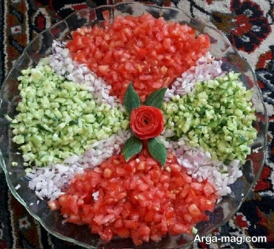 تزیینات سالاد شیرازی برای مهمانی