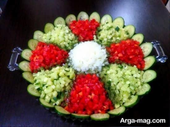 سالاد شیرازی تزئین شده و شکیل+عکس