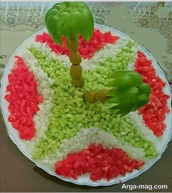 تزئینات شکیل سالاد سبزیجات