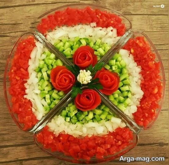دیزاین سالاد خیار و گوجه