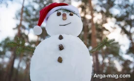 ایده ای زیبا برای ساختن آدم برفی