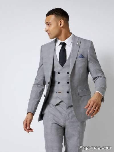پوشیدن کت و شلوار خاکستری در شب عروسی