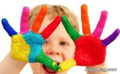 یاد دادن رنگ ها به کودک