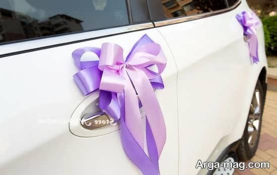 تزیینات ماشین عروس با روبان