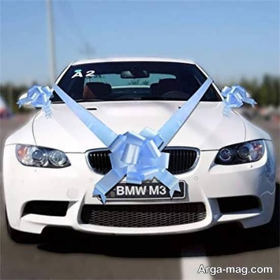 ماشین عروس لوکس دیزاین شده با ربان
