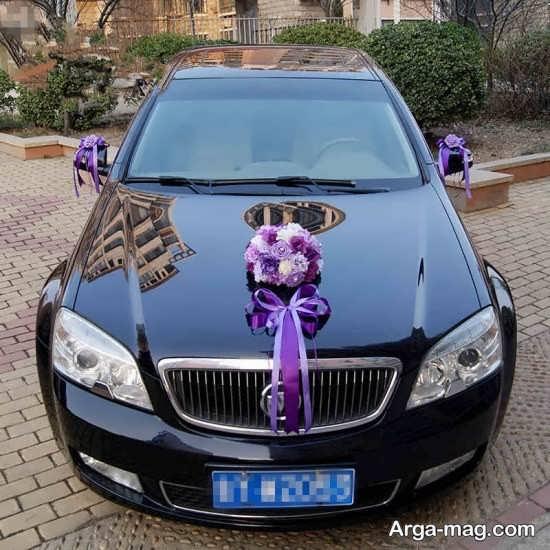 ماشین عروس لاکچری و تزیین شده با ربان