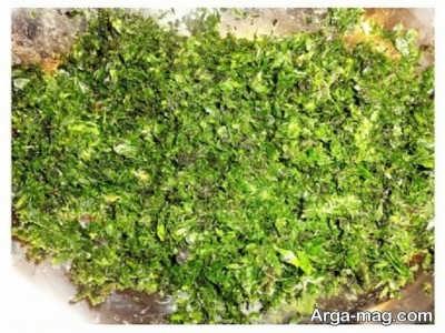 مخلوط مواد کوفته سبزی