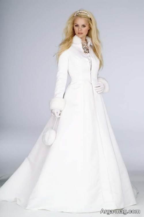 مدل لباس عروس زمستانی