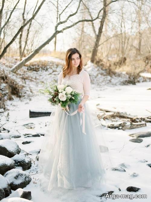 مدل پیراهن عروس زمستانه