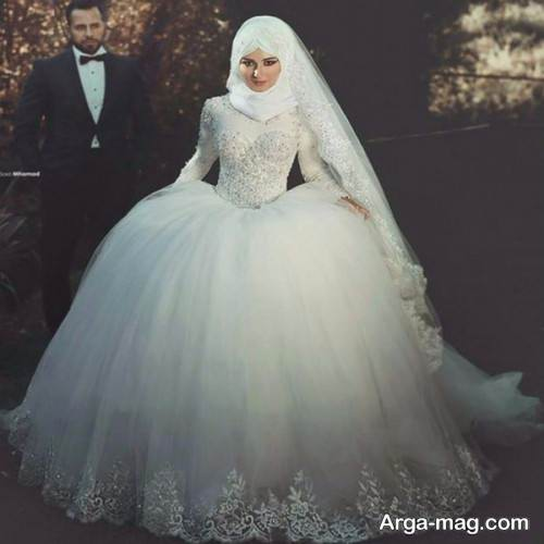 مدل لباس عروس پوشیده زمستانی