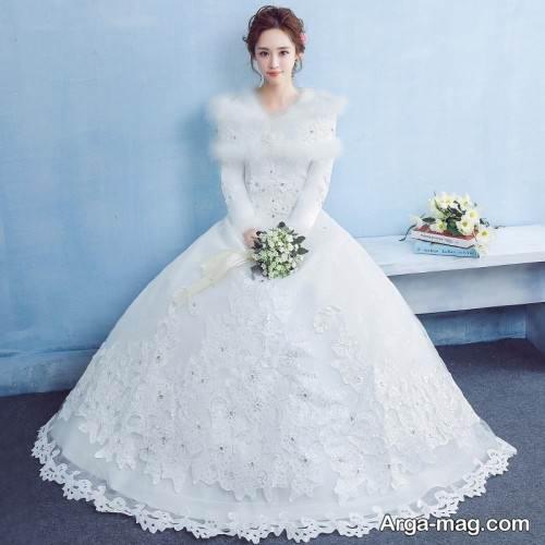لباس عروس با دامن پف دار