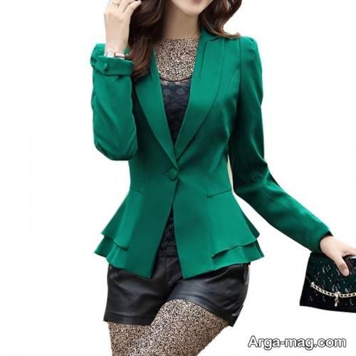 مدل کت سبز