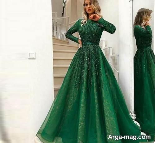 مدل لباس سبز مخصوص شب یلدا