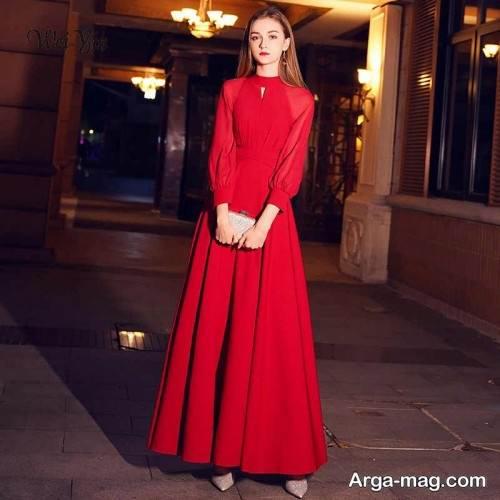 لباس آستین دار برای شب یلدا