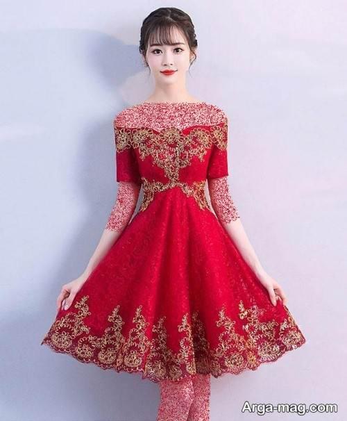لباس عروس کار شده برای شب یلدا