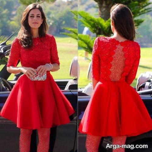 لباس قرمز کوتاه برای شب یلدا
