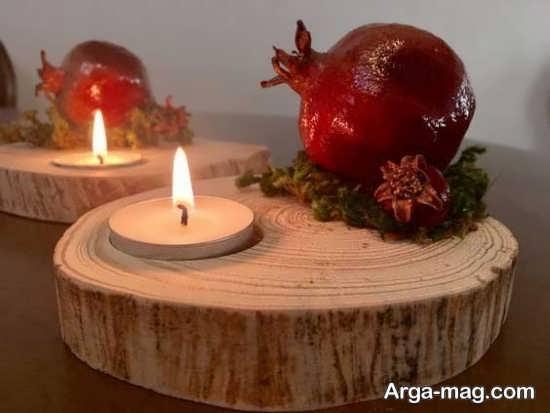 تزیین زیبای شمع شب یلدا