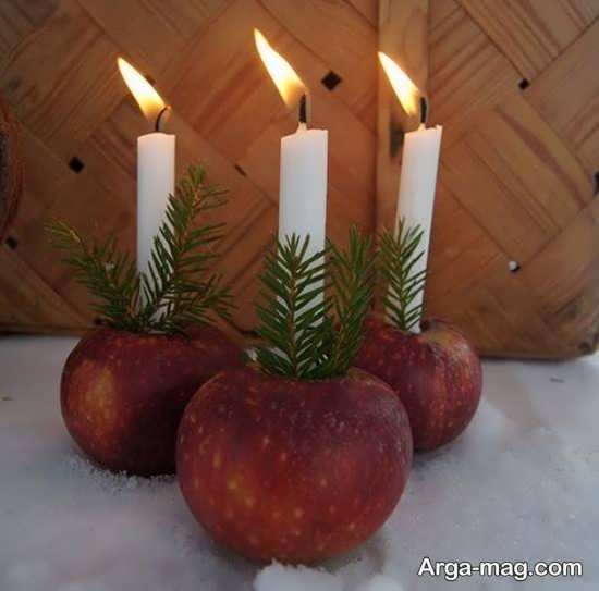 تزئینات دوست داشتنی شمع برای شب چله