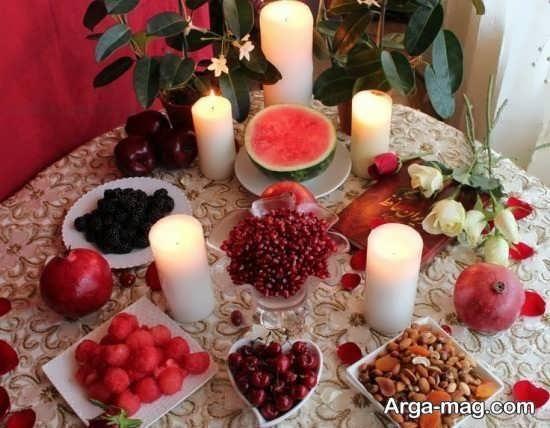 تزئینات تماشایی شمع برای شب چله