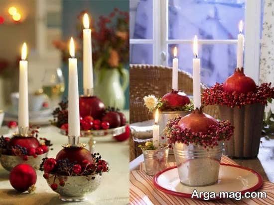 جدیدترین تزئینات و چیدمان شمع برای شب چله