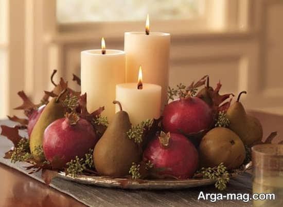 جذاب ترین تزئینات و چیدمان شمع برای شب چله