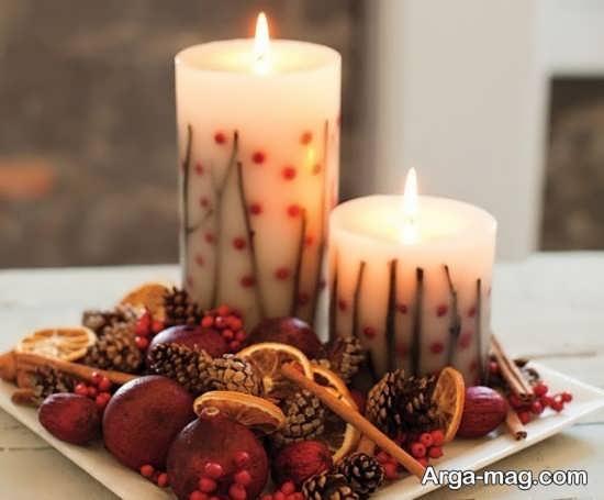 خاص ترین تزئینات و چیدمان شمع برای شب چله