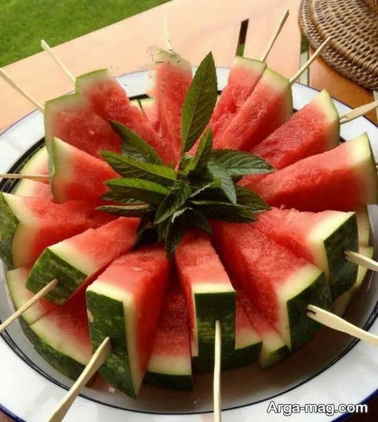 تزئین ساده میوه برای شب چله