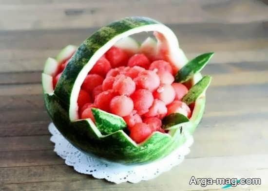 میوه آرایی ساده برای شب چله