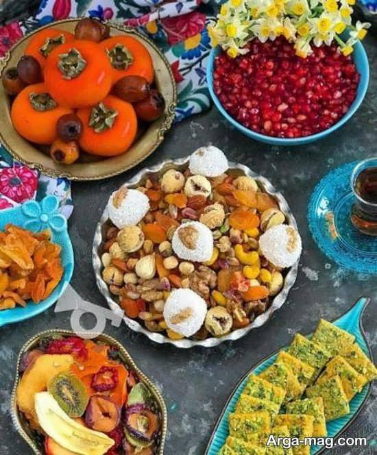 عکس تزئین میز شب یلدا
