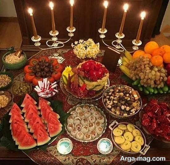 میز جشن یلدا