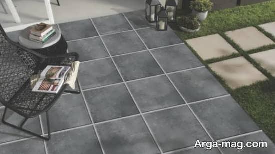 مدل زیبای سرامیک پارکینگ و حیاط