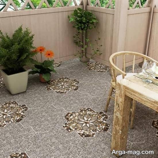مدل سرامیک کف حیاط