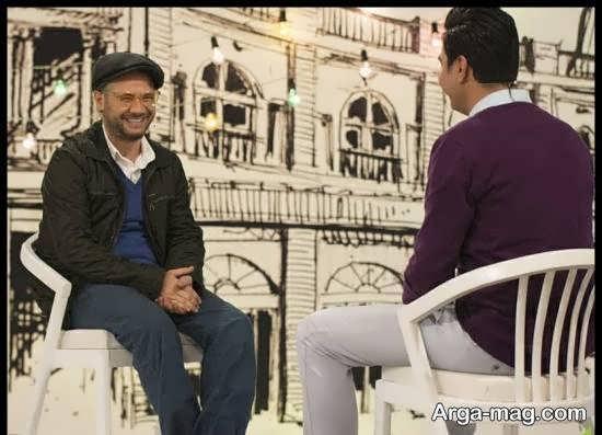 علی صادقی در برنامه چهل تیکه و تصویرهایی متفاوت از وی